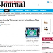Eco-friendly Tottenham school wins Green Flag status